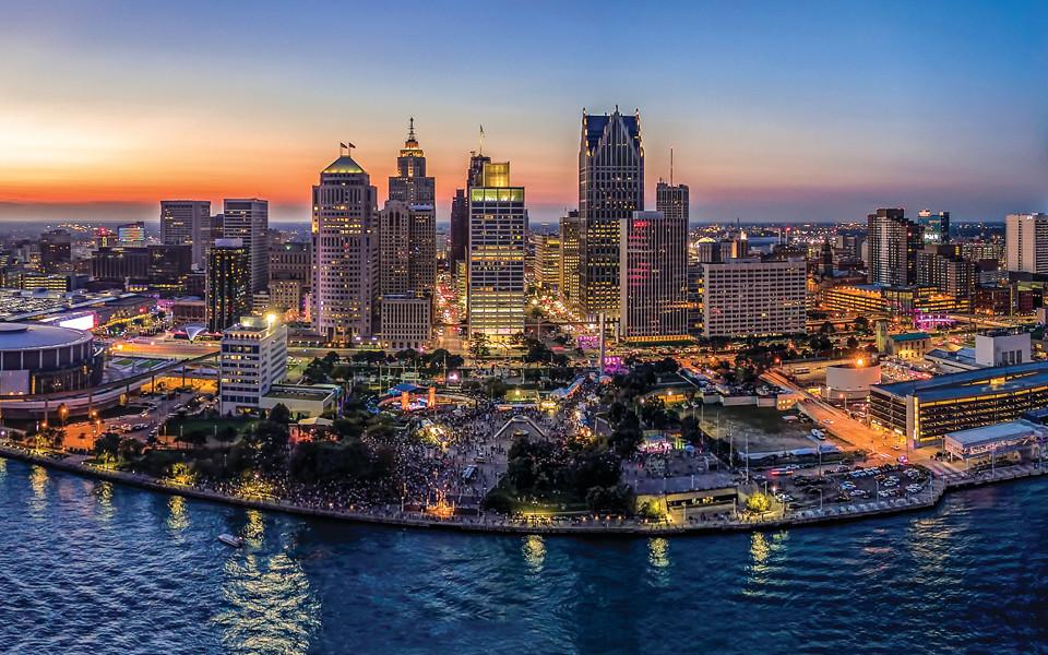Detroit, Michigan cityscape
